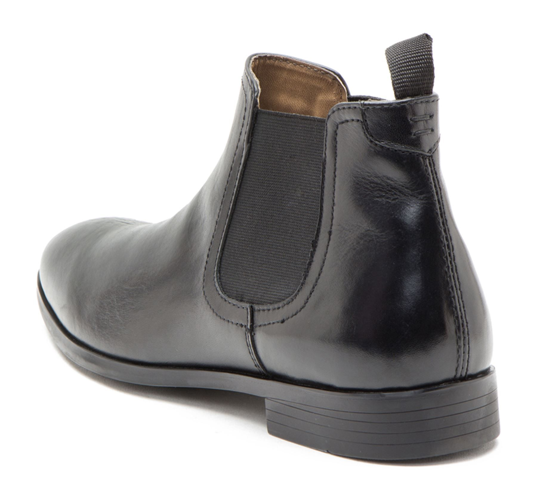 669d472bab5 Red Tape Beeston Black Tan Mens Leather Pull On Chelsea Boots Casual ...